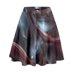 Shells Around Tubes Abstract High Waist Skirt