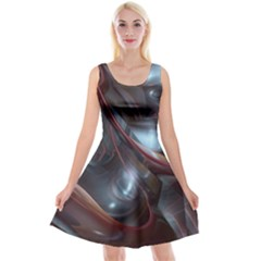 Shells Around Tubes Abstract Reversible Velvet Sleeveless Dress