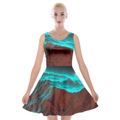 Shera Stringfellow Velvet Skater Dress
