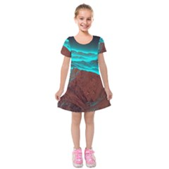 Shera Stringfellow Kids  Short Sleeve Velvet Dress