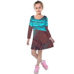 Shera Stringfellow Kids  Long Sleeve Velvet Dress