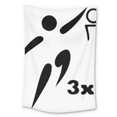 3 On 3 Basketball Pictogram Large Tapestry