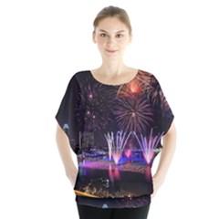 Singapore The Happy New Year Hotel Celebration Laser Light Fireworks Marina Bay Blouse