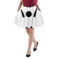 Air Sports Pictogram A-Line Pocket Skirt