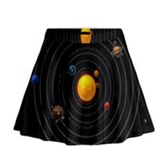 Solar System Mini Flare Skirt