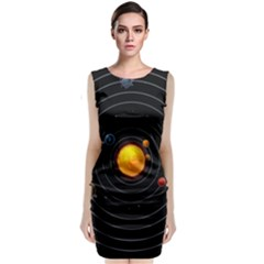 Solar System Sleeveless Velvet Midi Dress