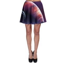 Space Art Nebula Skater Skirt