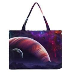 Space Art Nebula Medium Zipper Tote Bag