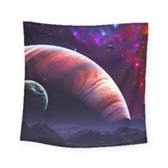 Space Art Nebula Square Tapestry (small)