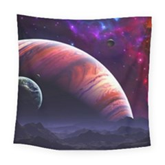 Space Art Nebula Square Tapestry (Large)