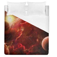 Space Red Duvet Cover (queen Size)
