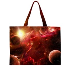 Space Red Large Tote Bag