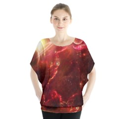 Space Red Blouse