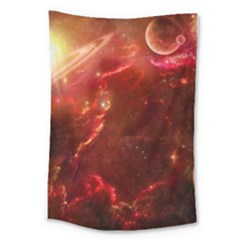 Space Red Large Tapestry
