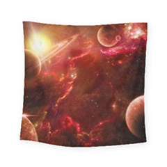 Space Red Square Tapestry (small)