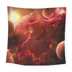 Space Red Square Tapestry (large)