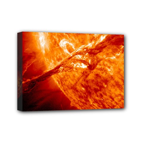 Spectacular Solar Prominence Mini Canvas 7  X 5