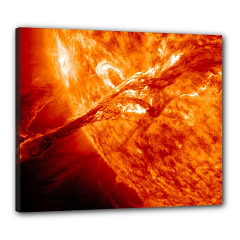 Spectacular Solar Prominence Canvas 24  X 20