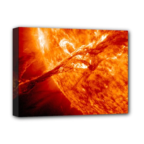 Spectacular Solar Prominence Deluxe Canvas 16  X 12