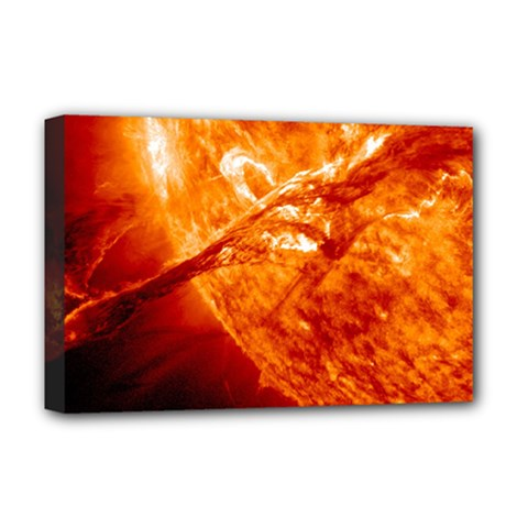 Spectacular Solar Prominence Deluxe Canvas 18  X 12