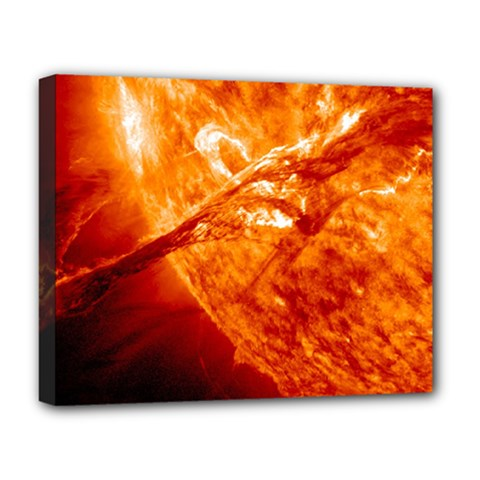 Spectacular Solar Prominence Deluxe Canvas 20  X 16