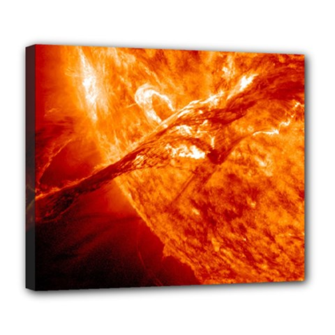Spectacular Solar Prominence Deluxe Canvas 24  X 20