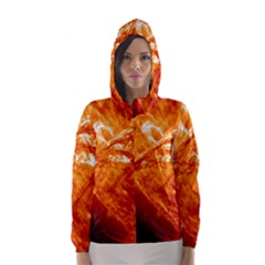 Spectacular Solar Prominence Hooded Wind Breaker (women)