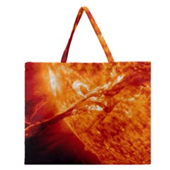 Spectacular Solar Prominence Zipper Large Tote Bag