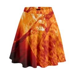 Spectacular Solar Prominence High Waist Skirt