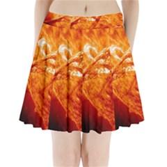 Spectacular Solar Prominence Pleated Mini Skirt