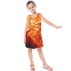 Spectacular Solar Prominence Kids  Sleeveless Dress