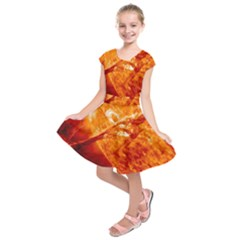 Spectacular Solar Prominence Kids  Short Sleeve Dress