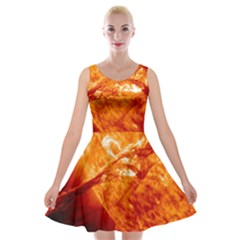 Spectacular Solar Prominence Velvet Skater Dress