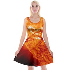 Spectacular Solar Prominence Reversible Velvet Sleeveless Dress