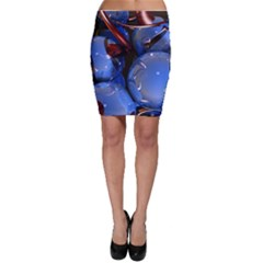 Spheres With Horns 3d Bodycon Skirt