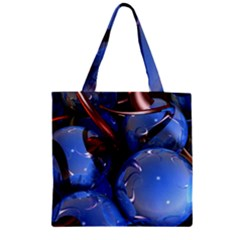 Spheres With Horns 3d Zipper Grocery Tote Bag