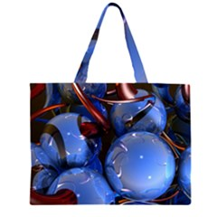 Spheres With Horns 3d Large Tote Bag