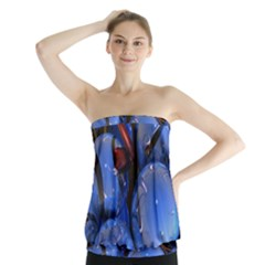Spheres With Horns 3d Strapless Top