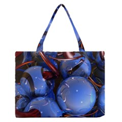 Spheres With Horns 3d Medium Zipper Tote Bag