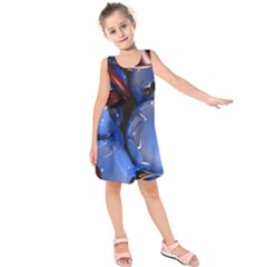 Spheres With Horns 3d Kids  Sleeveless Dress