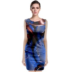 Spheres With Horns 3d Sleeveless Velvet Midi Dress