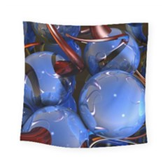 Spheres With Horns 3d Square Tapestry (small)