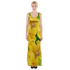 Springs First Arrivals Maxi Thigh Split Dress