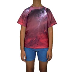Storm Clouds And Rain Molten Iron May Be Common Occurrences Of Failed Stars Known As Brown Dwarfs Kids  Short Sleeve Swimwear