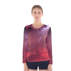 Storm Clouds And Rain Molten Iron May Be Common Occurrences Of Failed Stars Known As Brown Dwarfs Women s Long Sleeve Tee