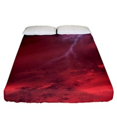Storm Clouds And Rain Molten Iron May Be Common Occurrences Of Failed Stars Known As Brown Dwarfs Fitted Sheet (queen Size)