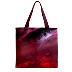 Storm Clouds And Rain Molten Iron May Be Common Occurrences Of Failed Stars Known As Brown Dwarfs Zipper Grocery Tote Bag