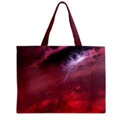 Storm Clouds And Rain Molten Iron May Be Common Occurrences Of Failed Stars Known As Brown Dwarfs Zipper Mini Tote Bag