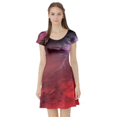 Storm Clouds And Rain Molten Iron May Be Common Occurrences Of Failed Stars Known As Brown Dwarfs Short Sleeve Skater Dress