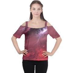 Storm Clouds And Rain Molten Iron May Be Common Occurrences Of Failed Stars Known As Brown Dwarfs Women s Cutout Shoulder Tee